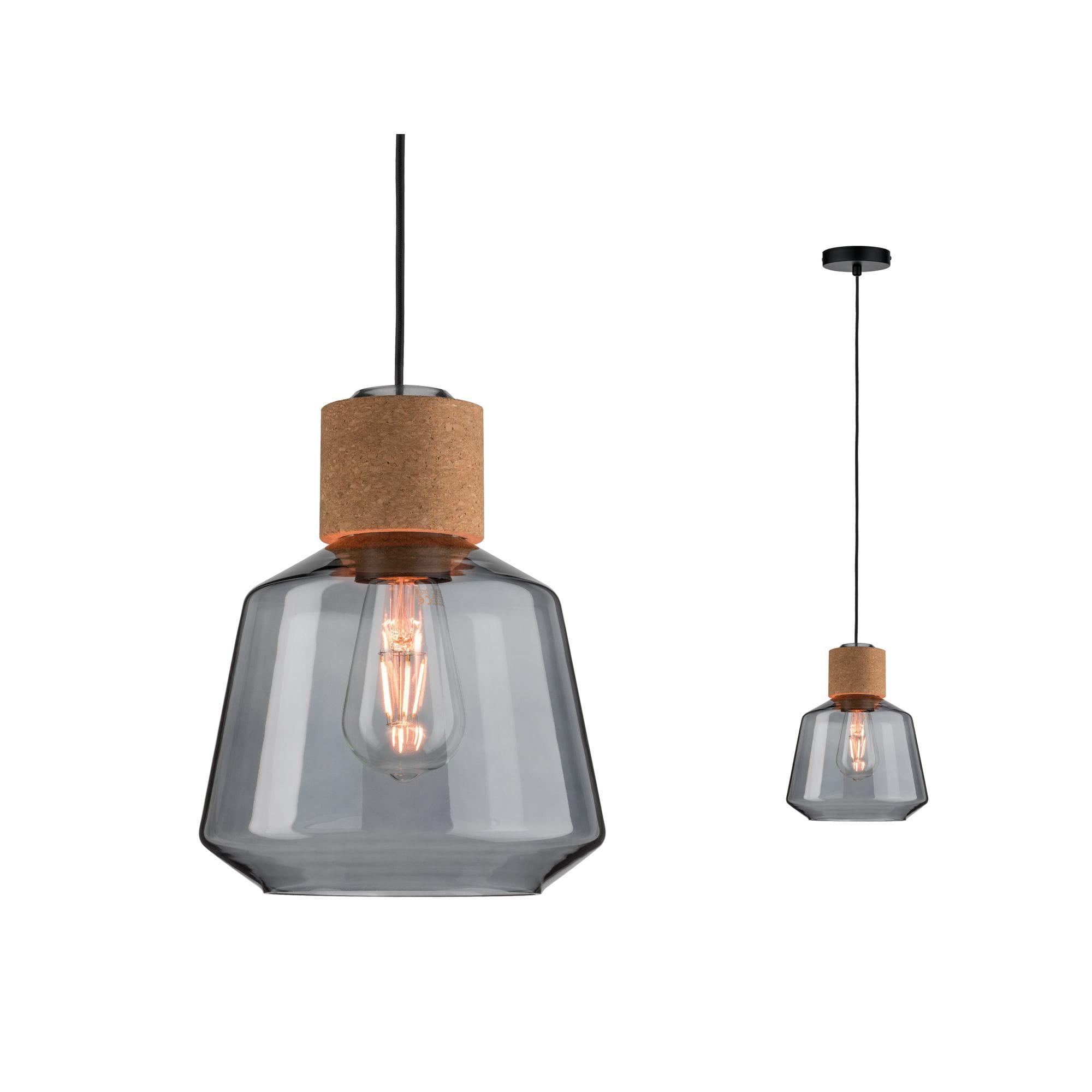 nowoczesne lampy wiszace korkowe